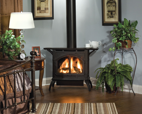 Indoor fireplaces and stoves